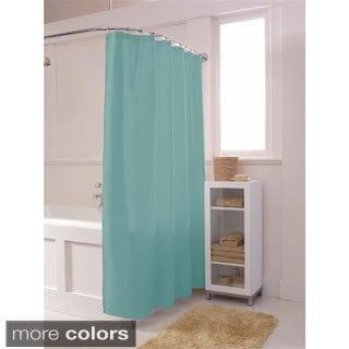 Maytex Waffle Spa Fabric Shower Curtain