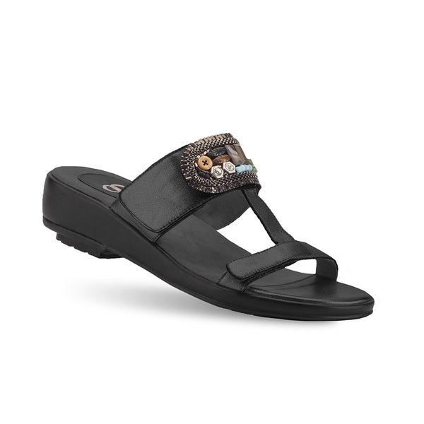 Women's Peony Black Casual Sandals