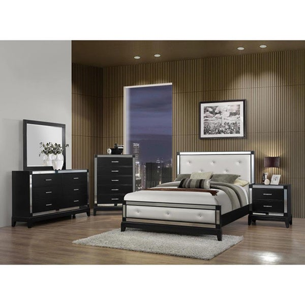luxurious tufted white bedroom set