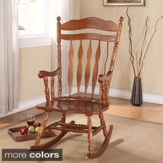 Kloris Rocking Chair, Dark Walnut