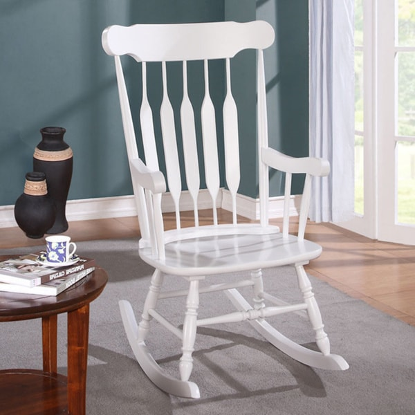 Kloris Rocking Chair, White
