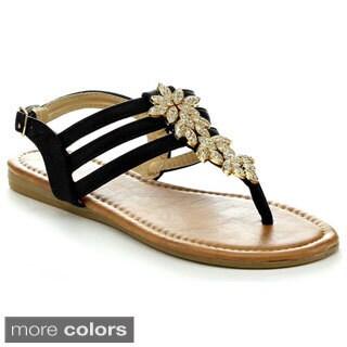 Anna Piper-18 Women's T-strap Flat Sandals
