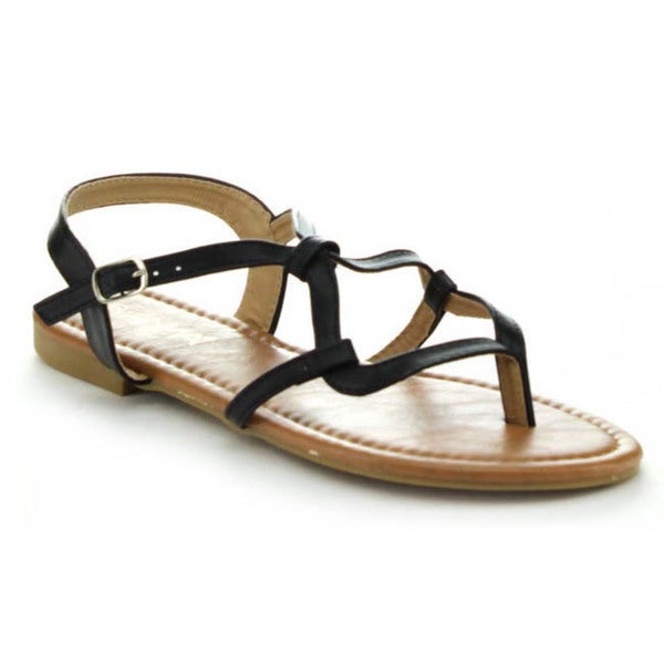 Anna Adriana-2 Women's Strappy Flat Heel Sandals