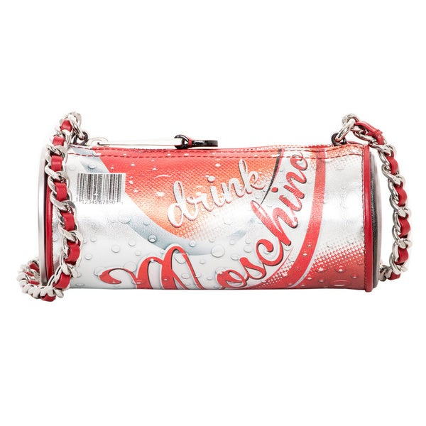 Moschino Drink Printed Leather Shoulder Bag