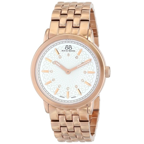 88 Rue du Rhone Women's 87WA120014 'Double 8 Origin' Swiss Quartz Rose Gold Tone Stainless Steel Watch