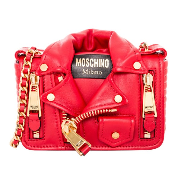 Moschino Small Biker Jacket Shoulder Bag