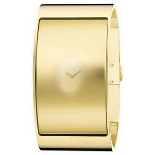 Calvin Klein Women's K3423409 'Flash' Goldtone Stainless Steel Watch