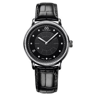 88 Rue du Rhone Women's 87WA120010 'Double 8 Origin' Swiss Quartz Black Leather Watch
