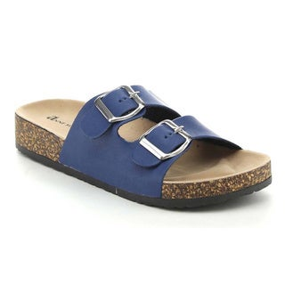 Anne Marie Glory-2 Women's Buckled Cork Sole Two Strap Slides Sandal