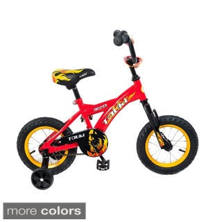 Tauki Twister 12 inch Kid Bike with Removable Training Wheels, Coaster Brake, for Boys, Sport Style, Cool Flame Pattern