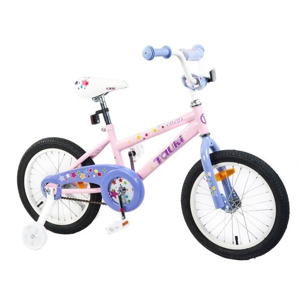 Tauki ESTELLA 16 inch Princess Kid Bike with RemovableTraining Wheels,Coaster Brake for Girls