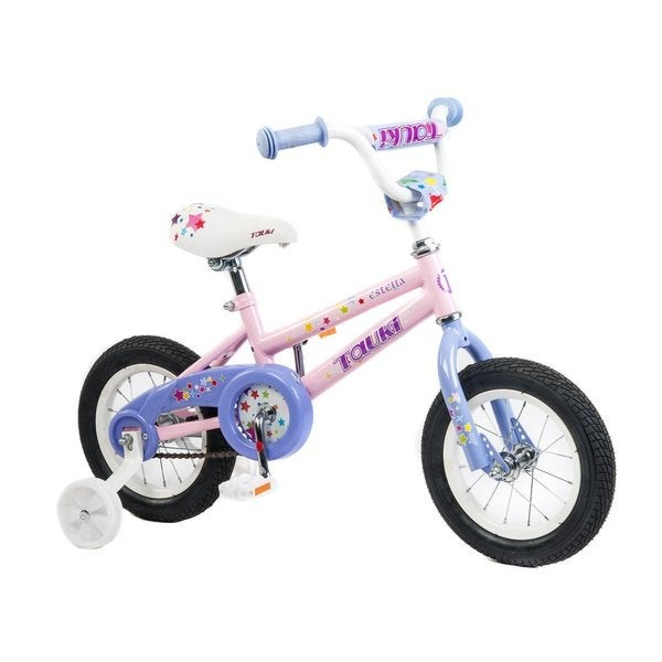 Tauki ESTELLA 12 inch Princess Kid Bike with RemovableTraining Wheels,Coaster Brake for Girls