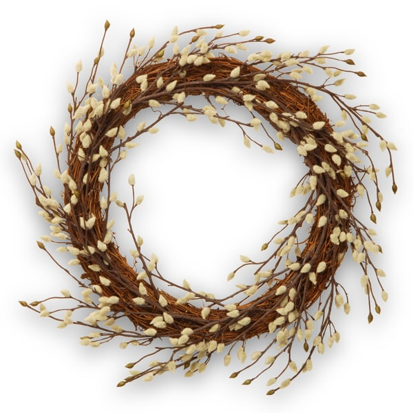 Pussy Willow 24-inch Wreath