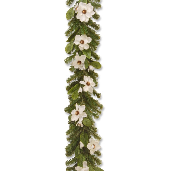 Cream Magnolia 6-foot Garland