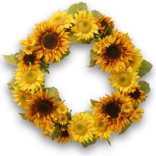 Yellow/Orange Sunflower 24-inch Wreath