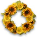 Yellow/Orange Sunflower 24-inch Wreath