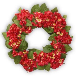 Burgundy Hydrangea 24-inch Wreath
