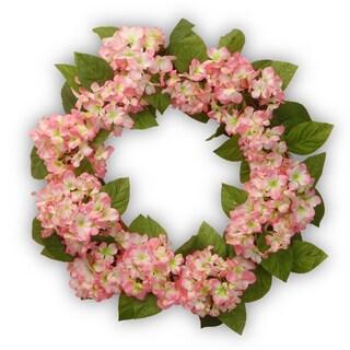 Pink Hydrangea 24-inch Wreath