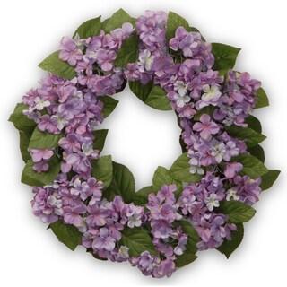 Purple Hydrangea 24-inch Wreath