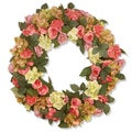 Mixed Flower Pink 30-inch Wreath