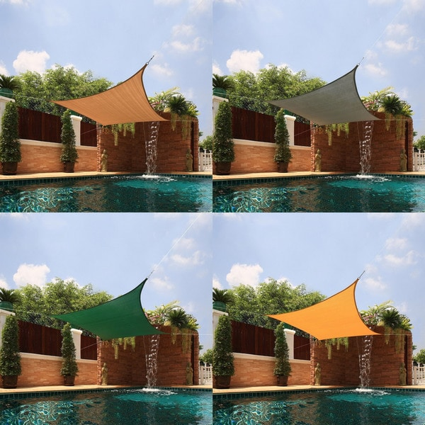 Small Square Sail Sun Shade in Beige (As Is Item)