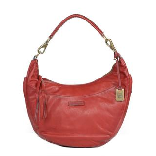 Frye Jenny Hobo in Burnt Red