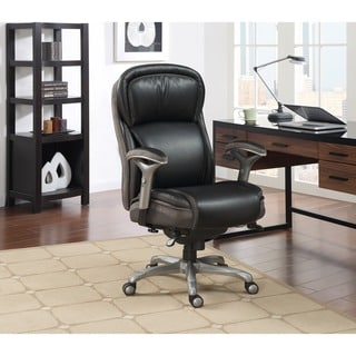 Serta Blissfully Black Smart Layers Manager Office Chair with AIR Technology