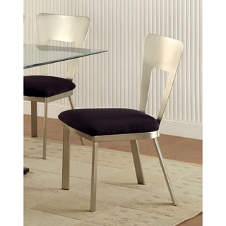 Furniture of America Sculpture II Contemporary Satin Metal Dining Chair