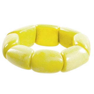 Riverbed Tagua Nut Bracelet in Lemon - Faire Collection (Ecuador)