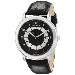 88 Rue du Rhone Men's 87WA130019 'Double 8 Origin' Swiss Quartz Black Leather Watch