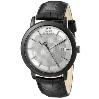 88 Rue du Rhone Men's 87WA130020 'Double 8 Origin' Swiss Quartz Black Leather Watch