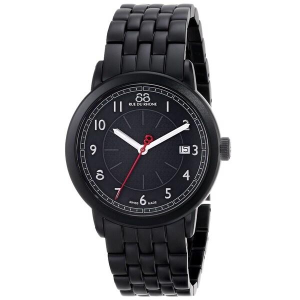 88 Rue du Rhone Unisex 87WA120025 'Double 8 Origin' Swiss Quartz Black Stainless Steel Watch