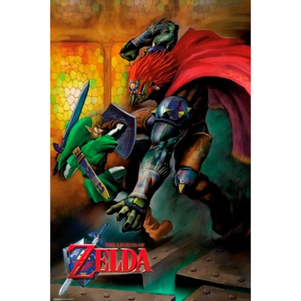 The Legend of Zelda Link vs. Ganondorf Poster
