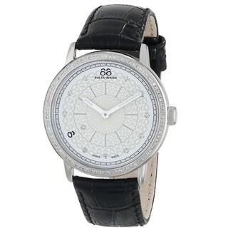 88 Rue du Rhone Women's 87WA120061 'Double 8 Origin' Swiss Quartz Black leather Watch