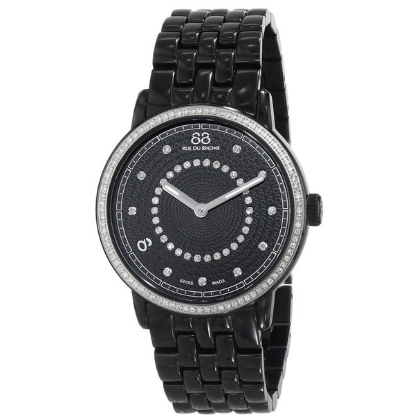 88 Rue du Rhone Women's 87WA120023 'Double 8 Origin' Swiss Quartz Black Stainless Steel Watch