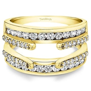 TwoBirch 10k Yellow Gold 1/2ct TDW Wedding Ring Enhancer Set (G-H, I2-I3)