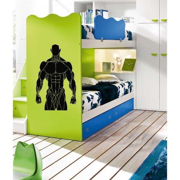 Body Builder Vinyl Wall Art