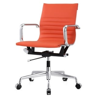 Dix Orange Leatherette Modern Office Chair