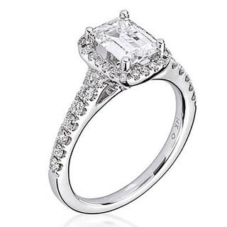Scott Kay 14k White Gold 1/2ct TDW Diamond Semi Mount Engagement Ring (G-H, VS2)