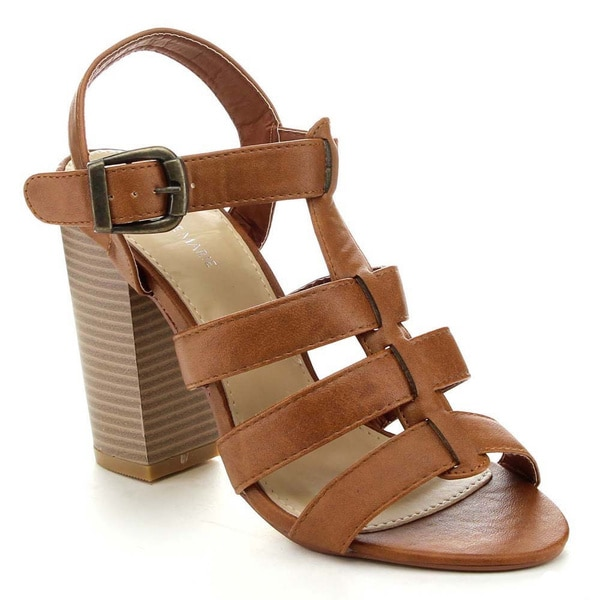 Anne Marie Savana-1 Women's Ankle Strappy Chunky High Heel Sandal
