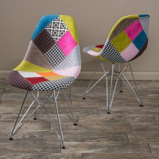 Christopher Knight Home Wilmette Patchwork Fabric Chair (Set of 2)