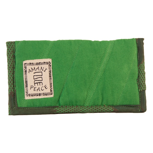 Full Size Green Kanga Check Book Wallet