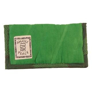 Full Size Green Kanga Check Book Wallet