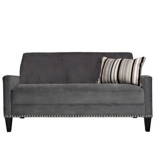 Portfolio Gia Gray Velvet Sofa