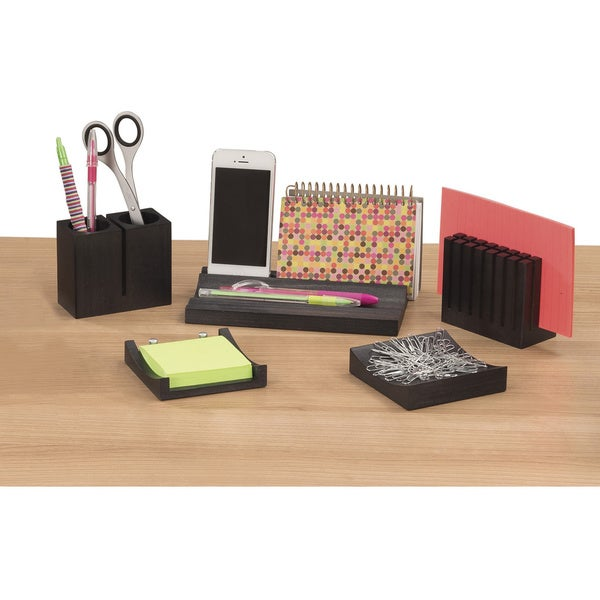 Safco wood desk organizer set overstock shopping top - Desk organizer sets ...