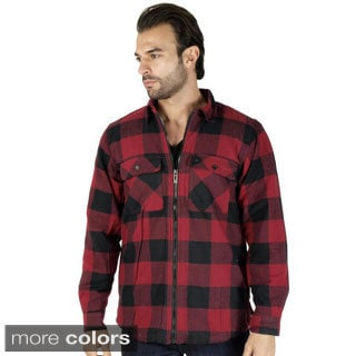 Mens Sherpa-Lined Flannel Jacket