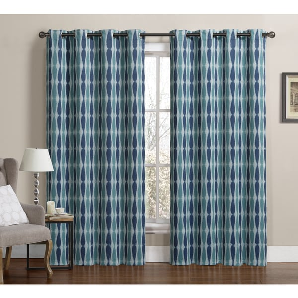 VCNY Monsoon Grommet Top Blackout Curtain Panel Pair (As Is Item)