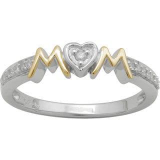 Sterling Silver 1/10ct TDW Diamond 'Mom' Ring (H-I, I3)