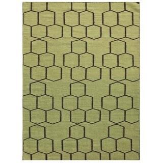 Maroc Geometric Pattern 9x12 Flat-Weave Rug