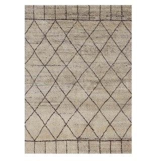 Nostalgia Geometric Pattern 5x6.6 Hand-Knotted Rug